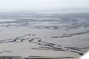 Damages to wetlands caused by reckless oil and gas operations in Plaquemines Parish. Photo Credit: Jonathan Henderson Vanishing Earth. Flight provided by SouthWings.org.