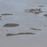 Thousands of active and abandoned oil and gas wells dot the landscape in vast areas of the Louisiana coast. April 23, 2016. Photo: Jonathan Henderson, Vanishing Earth. Flight provided by SouthWings.org
